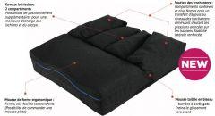 Assise modulaire évolutive Vicair LIBERTY AVEC COUSSIN ACTIVE 02 - Accessoire pour fauteuil roulant