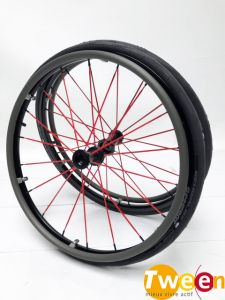"""PAIRE DE ROUES SPINERGY BLX 24"""" RAYONS ROUGE"""