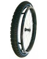 Paire de roues montées TOUT TERRAIN avec axes - Roues pour fauteuil roulant