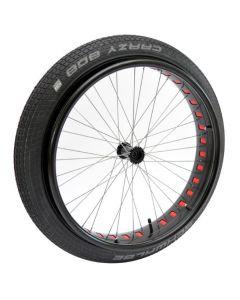 Paire de roues montées ROUE FAT avec axes et pneu crazy bob - Roues pour fauteuil roulant