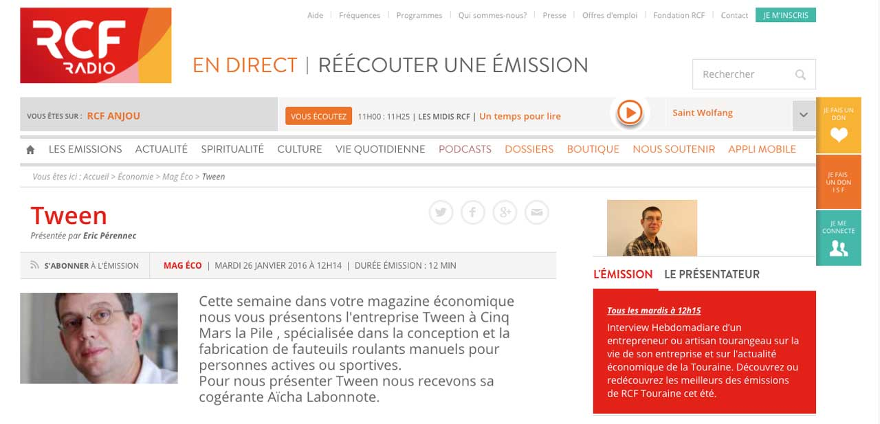 Interview de Aïcha Labonnote sur RCF