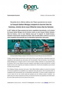 Résultats du Tournoi de l'Open paratennis du Loiret 2018